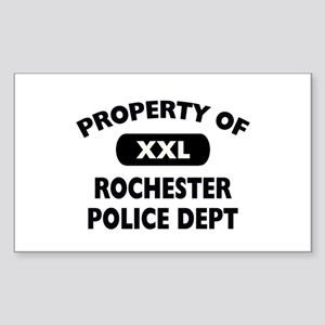 Property of Rochester Police Rectangle Sticker