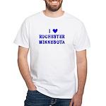 I Love Rochester Winter White T-Shirt