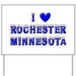 I Love Rochester Winter Yard Sign