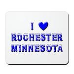 I Love Rochester Winter Mousepad