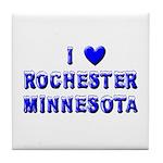 I Love Rochester Winter Tile Coaster