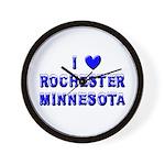 I Love Rochester Winter Wall Clock