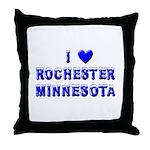 I Love Rochester Winter Throw Pillow