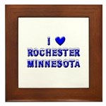 I Love Rochester Winter Framed Tile