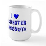 I Love Rochester Winter Large Mug