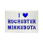 I Love Rochester Winter Rectangle Magnet