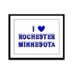 I Love Rochester Winter Framed Panel Print