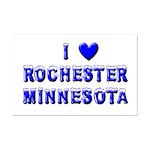 I Love Rochester Winter Mini Poster Print