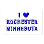 I Love Rochester Winter Rectangle Sticker