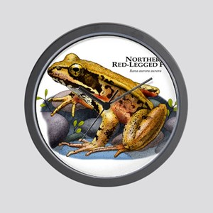 Northern Red-Legged Frog Wall Clock