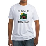 At The Cabin Fitted T-Shirt