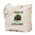 At The Cabin Tote Bag