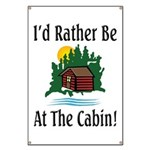 At The Cabin Banner