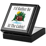 At The Cabin Keepsake Box