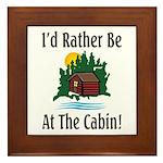 At The Cabin Framed Tile