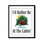 At The Cabin Framed Panel Print