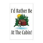 At The Cabin Mini Poster Print