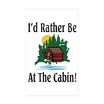 At The Cabin Rectangle Sticker 50 pk)