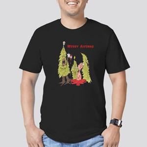 Merry Axemas Men's Fitted T-Shirt (dark)