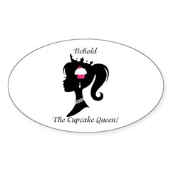 Behold! Oval Sticker (10 pk)
