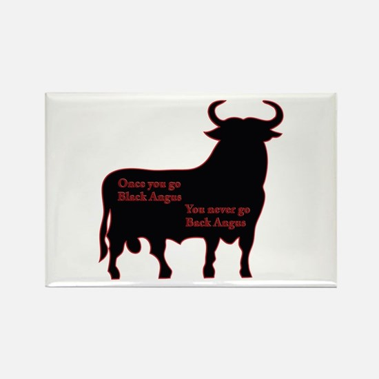 Black Angus Rectangle Magnet