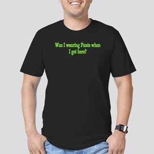 was I wearing pants? Men's Fitted T-Shirt (dark)