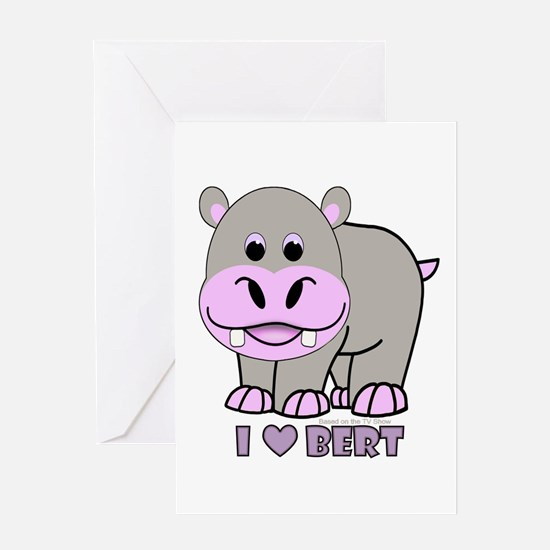 Bert The Hippo Greeting Card