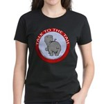 Hippo Talk To The Tail Women's Dark T-Shirt