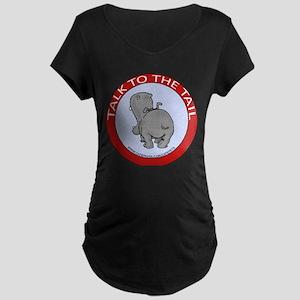 Hippo Talk To The Tail Maternity Dark T-Shirt