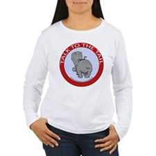 Hippo Talk To The Tail Women's Long Sleeve T-Shirt