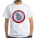 Hippo Talk To The Tail White T-Shirt