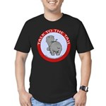 Hippo Talk To The Tail Men's Fitted T-Shirt (dark)