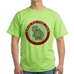 Hippo Talk To The Tail Green T-Shirt