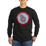 Hippo Talk To The Tail Long Sleeve Dark T-Shirt