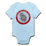 Hippo Talk To The Tail Infant Bodysuit