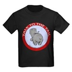Hippo Talk To The Tail Kids Dark T-Shirt