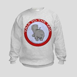 Hippo Talk To The Tail Kids Sweatshirt