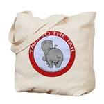 Hippo Talk To The Tail Tote Bag