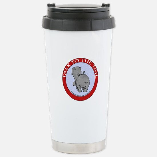 Hippo Talk To The Tail Stainless Steel Travel Mug