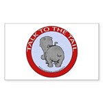Hippo Talk To The Tail Sticker (Rectangle)