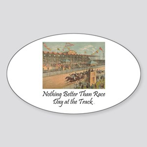 TOP Horse Racing Sticker (Oval)