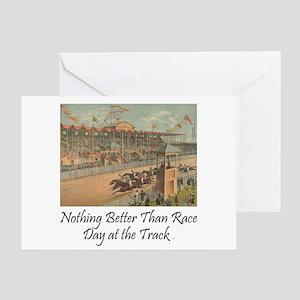 TOP Horse Racing Greeting Card