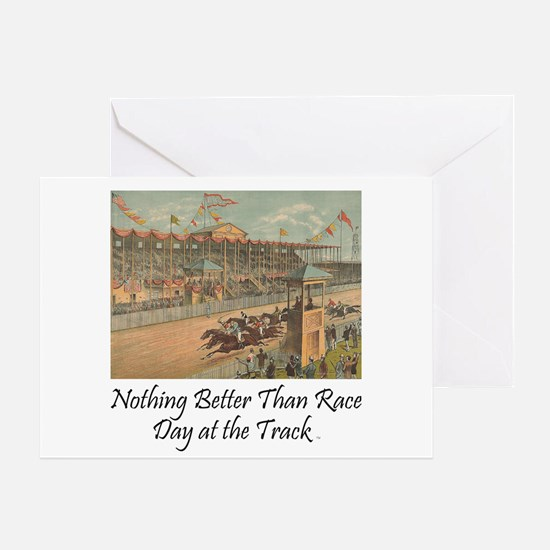TOP Horse Racing Greeting Card