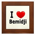 I Love Bemidji Framed Tile