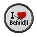 I Love Bemidji Large Wall Clock