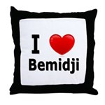 I Love Bemidji Throw Pillow