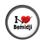 I Love Bemidji Wall Clock