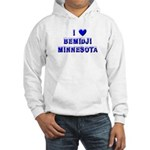 I Love Bemidji Winter Hooded Sweatshirt