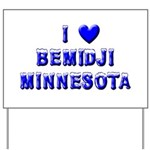 I Love Bemidji Winter Yard Sign