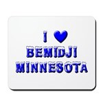 I Love Bemidji Winter Mousepad
